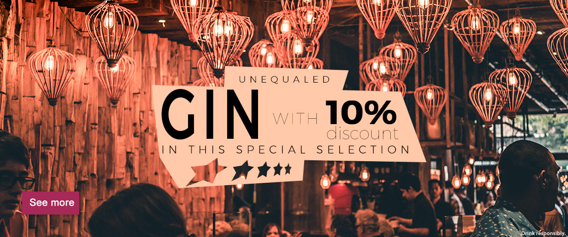 10% discount on a selection of gins